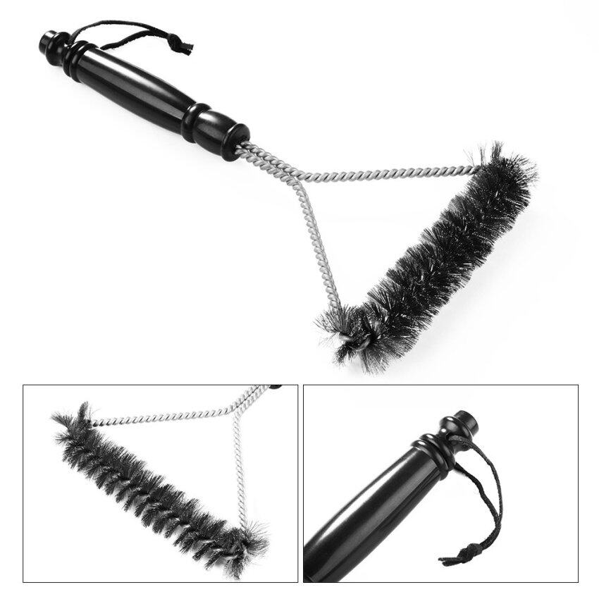 Heavy Duty Stainless Steel Wire Bristles Barbecue Grill Cleaning Brush for Cleaning Weber Char-Broil and Porcelain HS529-SZ