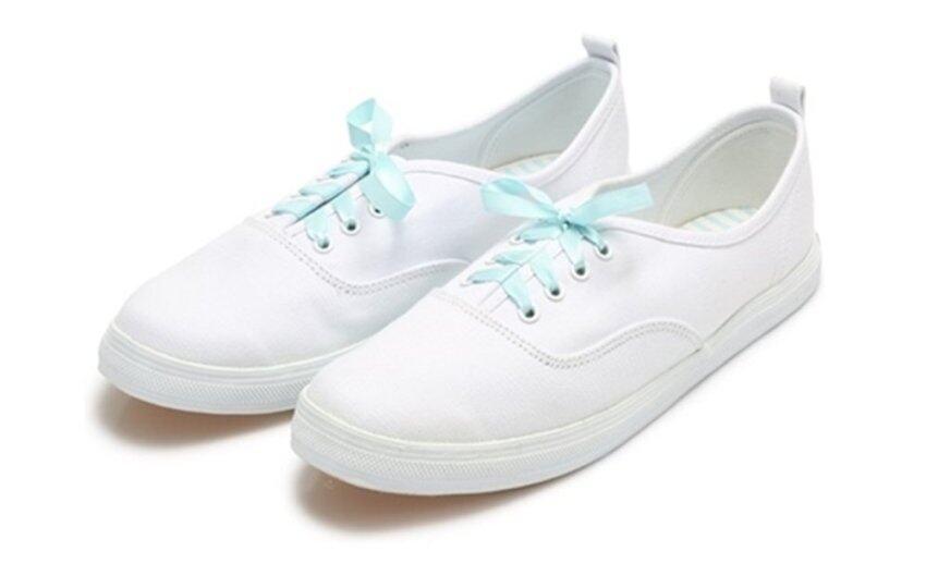 Nanyang รองเท้า ผ้าใบสำหรับผู้หญิง NANYANG Sugarไซส์37สี ขาว-ฟ้า