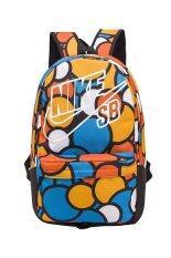 Nike กระเป๋าเป้ไนล่อนกันน้ำพิมพ์ลาย - สีส้ม