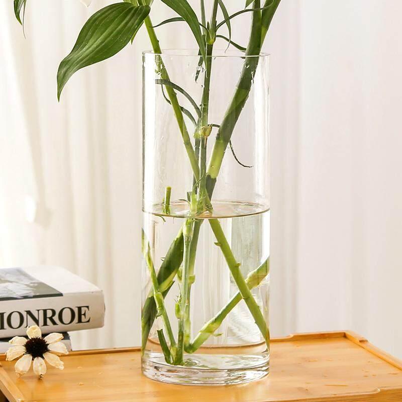 Cylinder Transparent Glass Vase