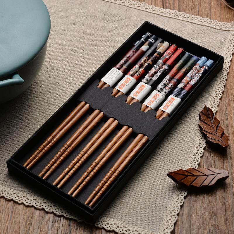 model Jepang corak angin kayu sumpit 5 Ganda set kotak hadiah rumah tangga ?