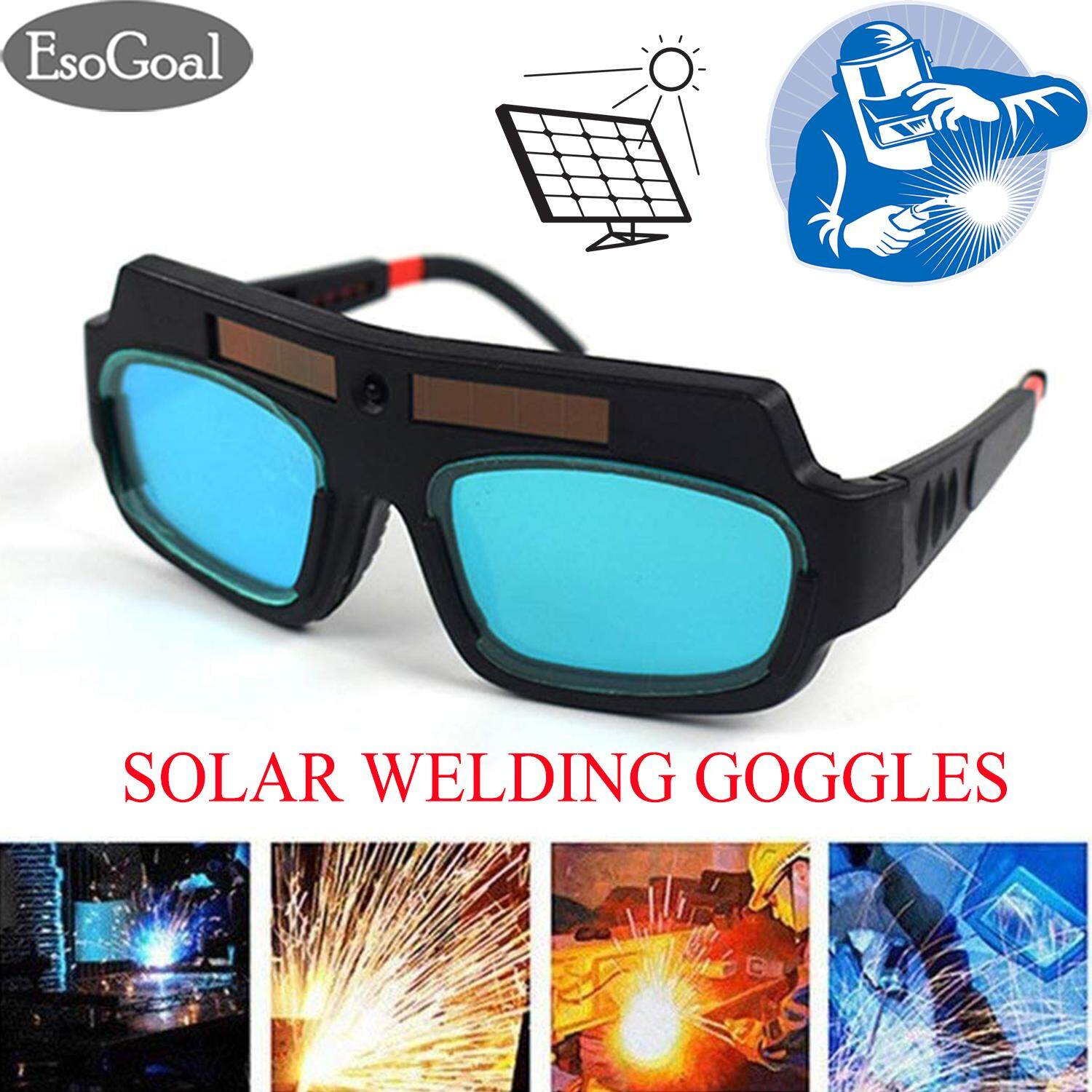 EsoGoal Welding Tools Eyes Protection Welding Goggles Glasses Mask Solar Powered Auto Darkening Welding Eyewear Professional