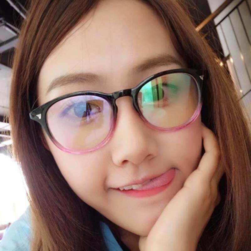 Anti Radiasi kacamata Pria dan wanita bingkai besar anti blu-ray Komputer kacamata pelindung HP permainan kaca polos Bisa dipadukan kacamata minus