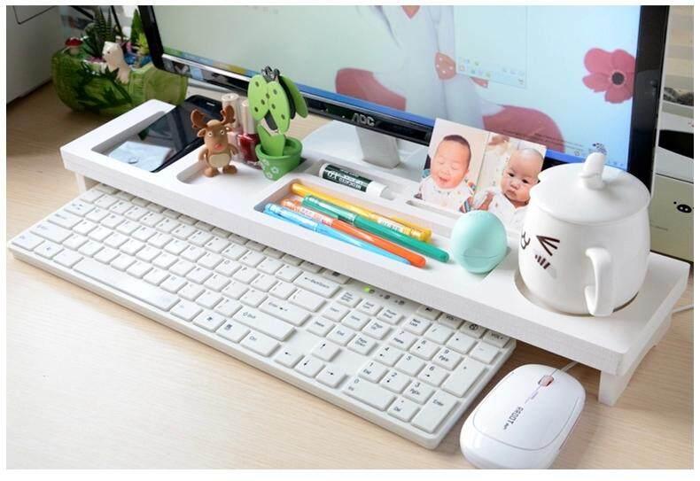 Orzer  อุปกรณ์จัดเก็บบนโต๊ะ สำหรับ คอมพิวเตอร์ Desk Keyboard Organizer (สีขาว).
