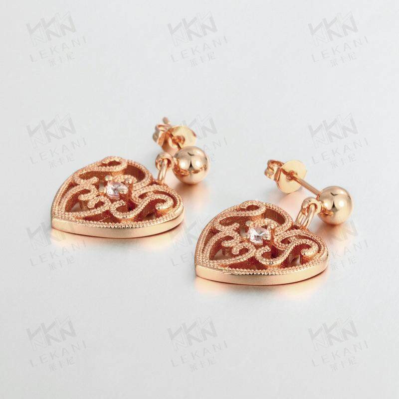 anting berongga perhiasan lazada mode grosir naik anting-anting emas Burgundy
