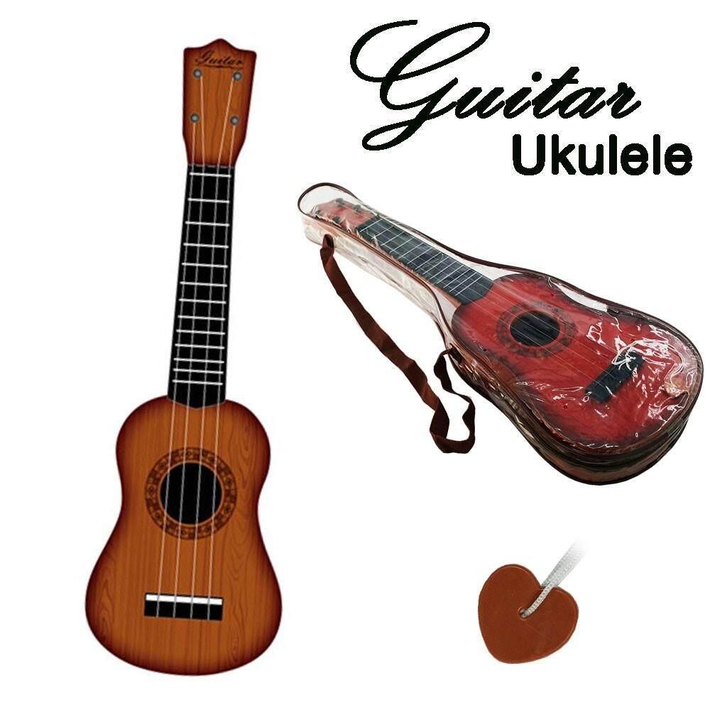 ukulele อูคูเลเล่ พลาสติก ขนาด 21 นิ้ว อุปกรณ์ครบชุด  แถม กระเป๋า พลาสติก .