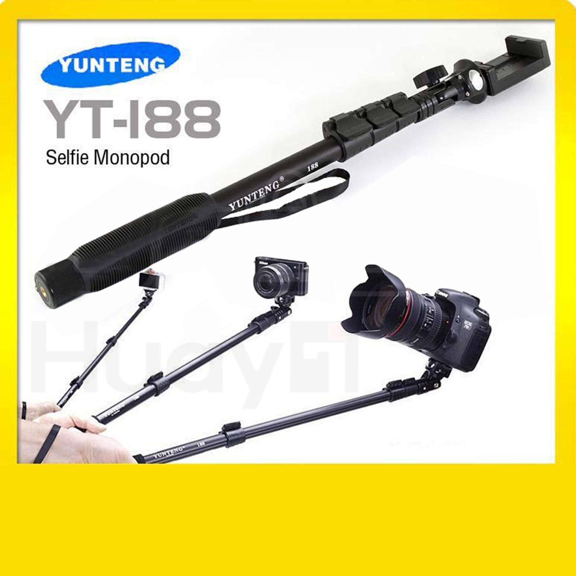 Yunteng ไม้เซลฟี่ Monopod โมโนพอด 2018 รุ่น Yt-188 (สีดำ) ใช้เซลฟี่ได้กับสมาร์ทโฟน หรือกล้องคอมแพ็ค.