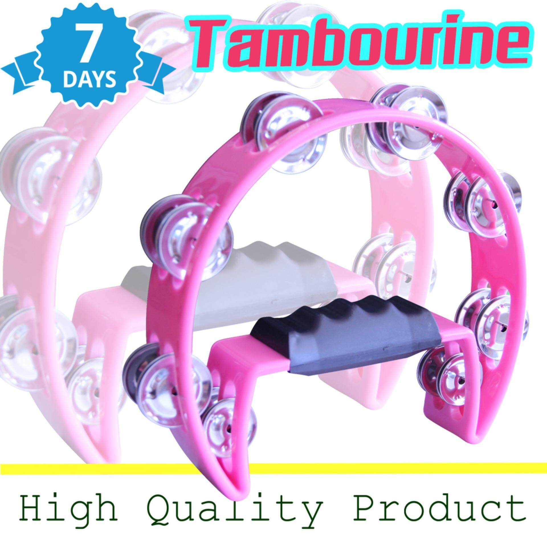 Harrier (Tambourine) แทมโบรีนใหญ่ 8 นิ้ว - Pink