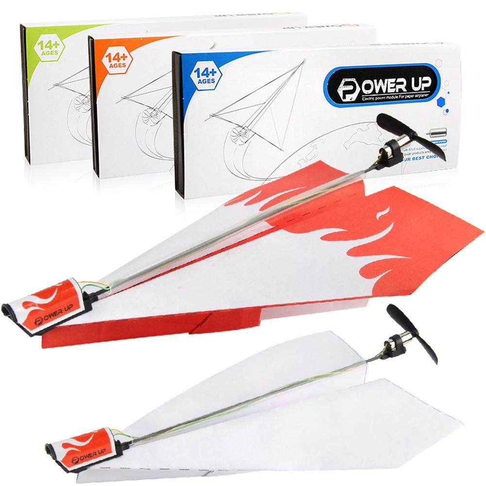 Anak Kertas Listrik Model Pesawat Terbang dengan Modul Daya Pesawat Lipat DIY Mainan Hadiah Natal Gaya