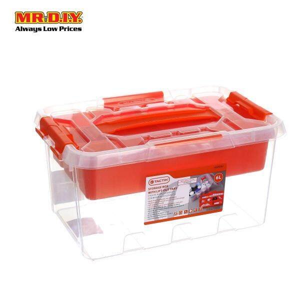 TACTIX Clear Container 6L