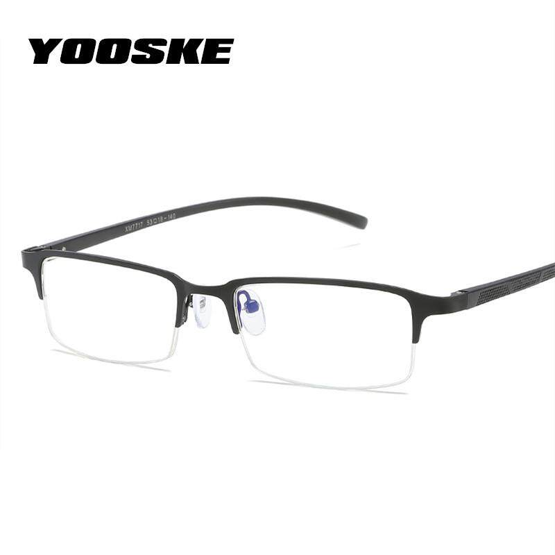 Detail Gambar YOOSKE Blue Light Filter Glasses Frame Men Gaming Computer Eyeglasses Male Business Optical Eyewear