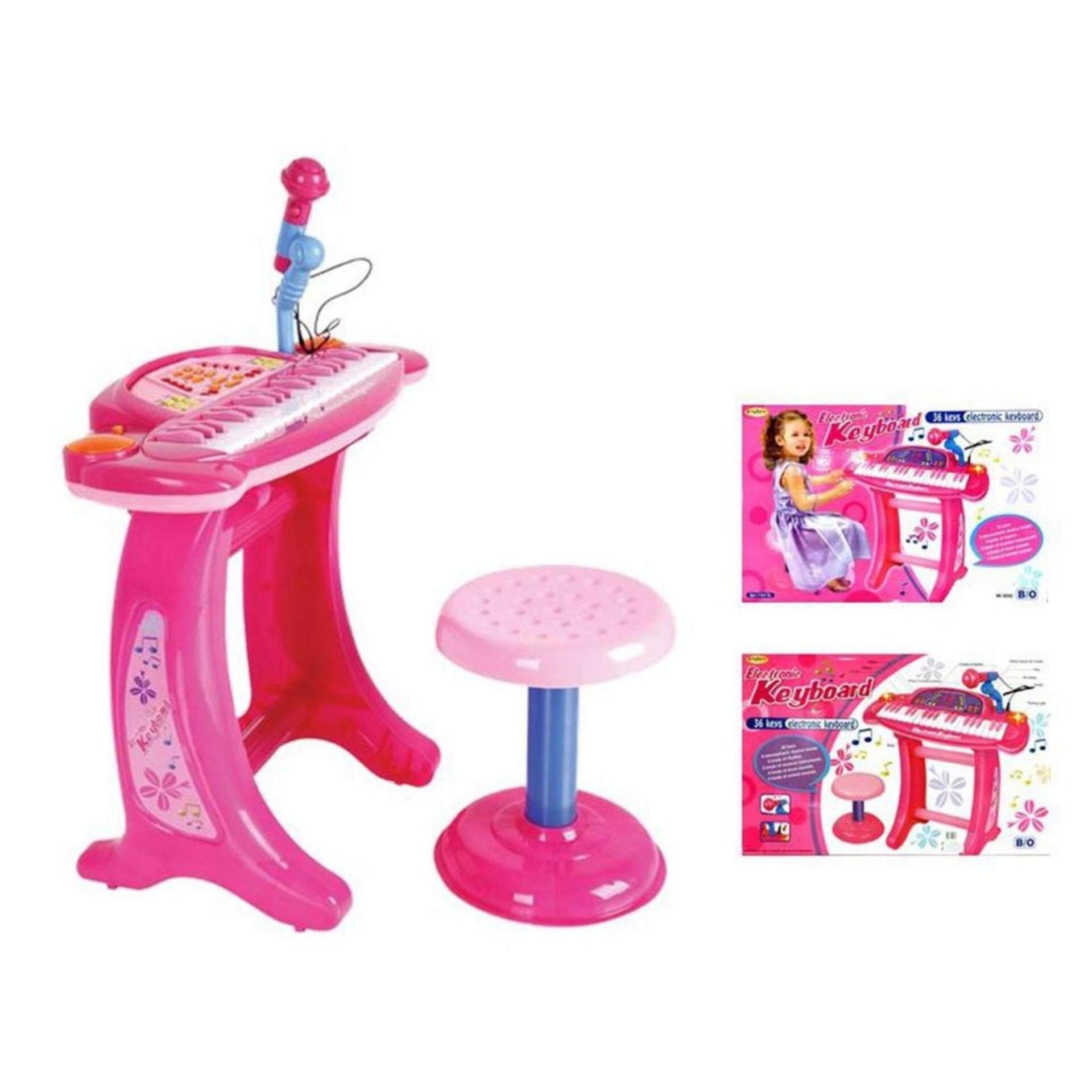 อิเลคโทรนิค คีย์บอร์ด 36 คีย์ + ไมค์ +เก้าอี้ By K Toy Club.