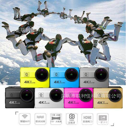 Baru Q5H Penuh Gerakan Kamera Olahraga 4 K HD Tahan Air Olahraga DV Lensa Besar Outdoor Camera-Intl