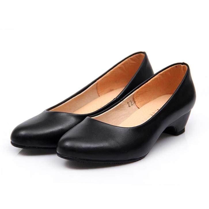 6120ef533f6 Spring Schick Block Heel Formal Wear Professional Going to Work Shoes Hotel  Work Shoes women Black