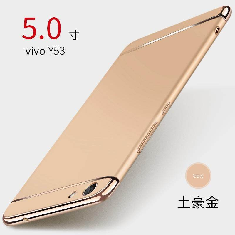 For VIVO Y53 Removable 3 in 1 Hard PC Plating Matte Case
