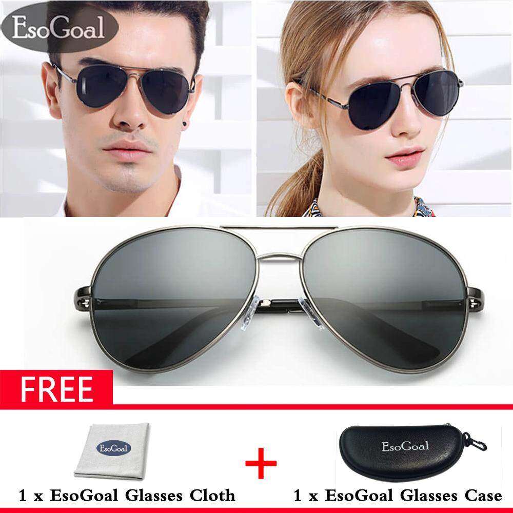 Esogoal Aviator Polarized Sunglasses For Mens Mirrored Sun Glasses Shades With Uv400 - Intl By Esogoal.