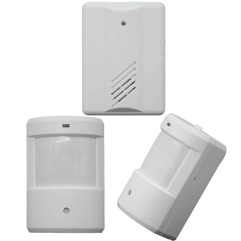 Entry Welcome Alarm Chime Doorbell Wireless IR Infrared Monitor Sensor Detector Split Alarm 2 Transmitters + 1 Receiver Door Bell