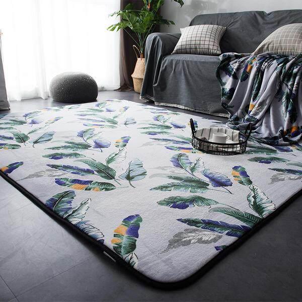 Lebih tebal minimalis Starter anak-anak kamar tidur kaki Tikar alas samping tempat tidur Karpet alas meja teh ruang tamu pintu masuk Bantalan Anti Selip