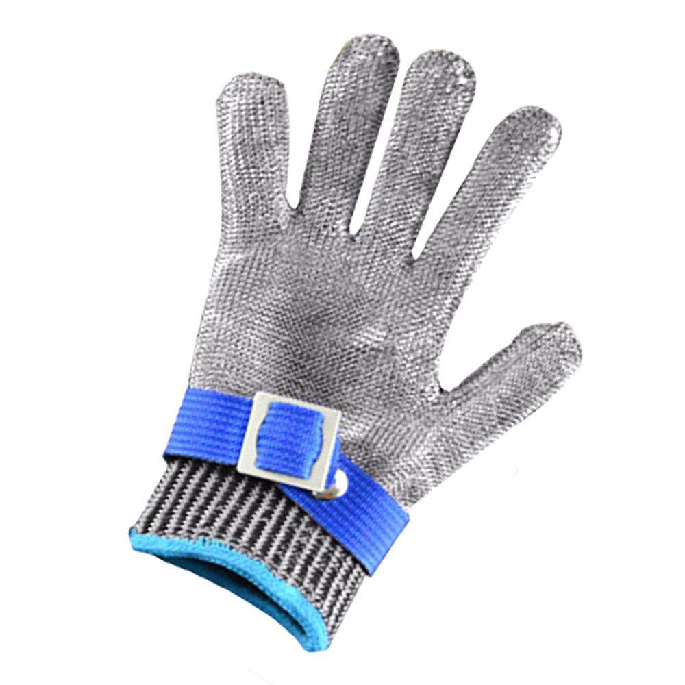 Safety Cut Proof Stab Resistant Stainless Steel Metal Mesh Butcher Glove with White Nylon Lining Glove Size M