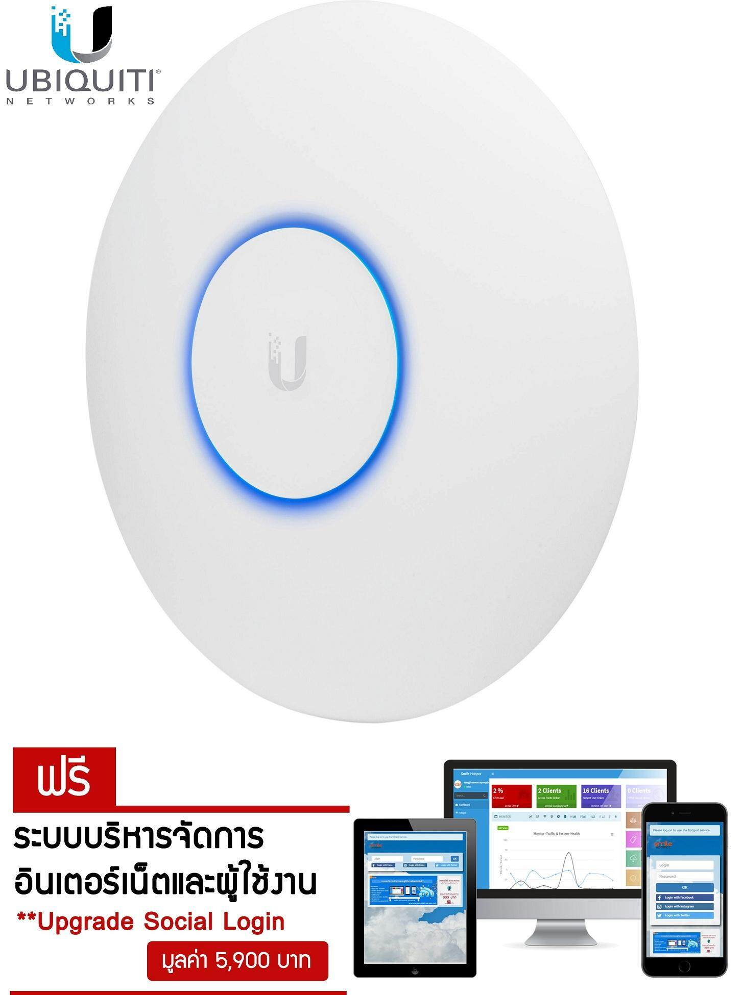 Ubiquiti Unifi nanoHD 802.11ac 2.4/5GHz Wave2 4x4MU-MIMO Access Point + Free Smile Hotspot No Monthly Fee Suitable for use with Mikrotik  Shipping By Kerry Express