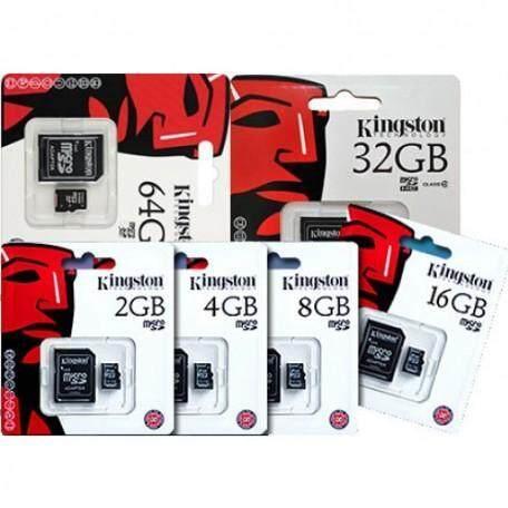 Kingston Memory Card Micro SD SDHC 2/4/8/16/32/64/128/256/512 GB Class 10 คิงส์ตัน เมมโมรี่การ์ด SD Card