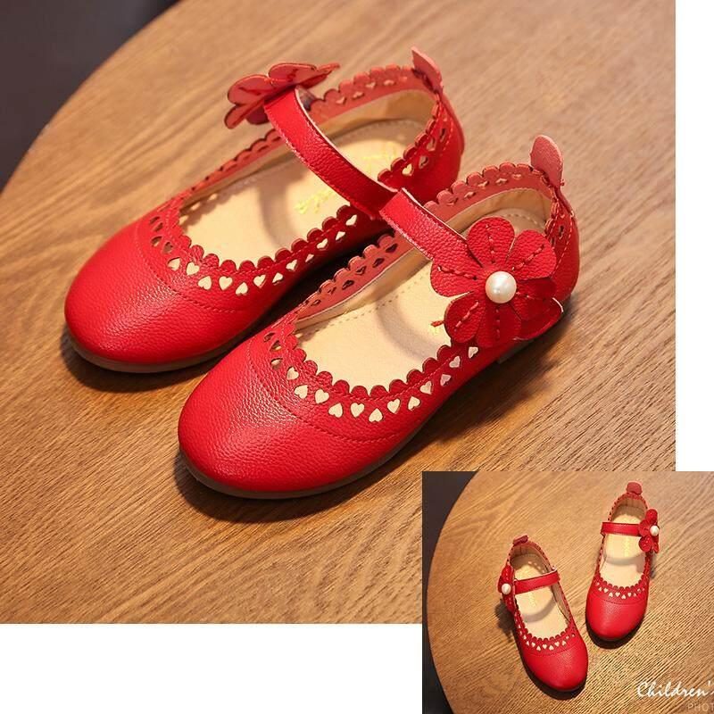 Sepatu Lapisan Tunggal Putri Anak Prempuan Sepatu Kulit Bayi Anak