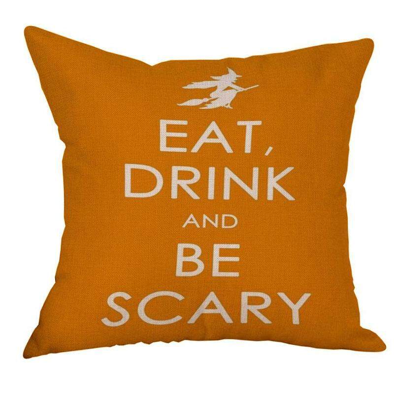 Pillow Shape Canape Home Bed Decoration Case Cover Cushion (Witch)