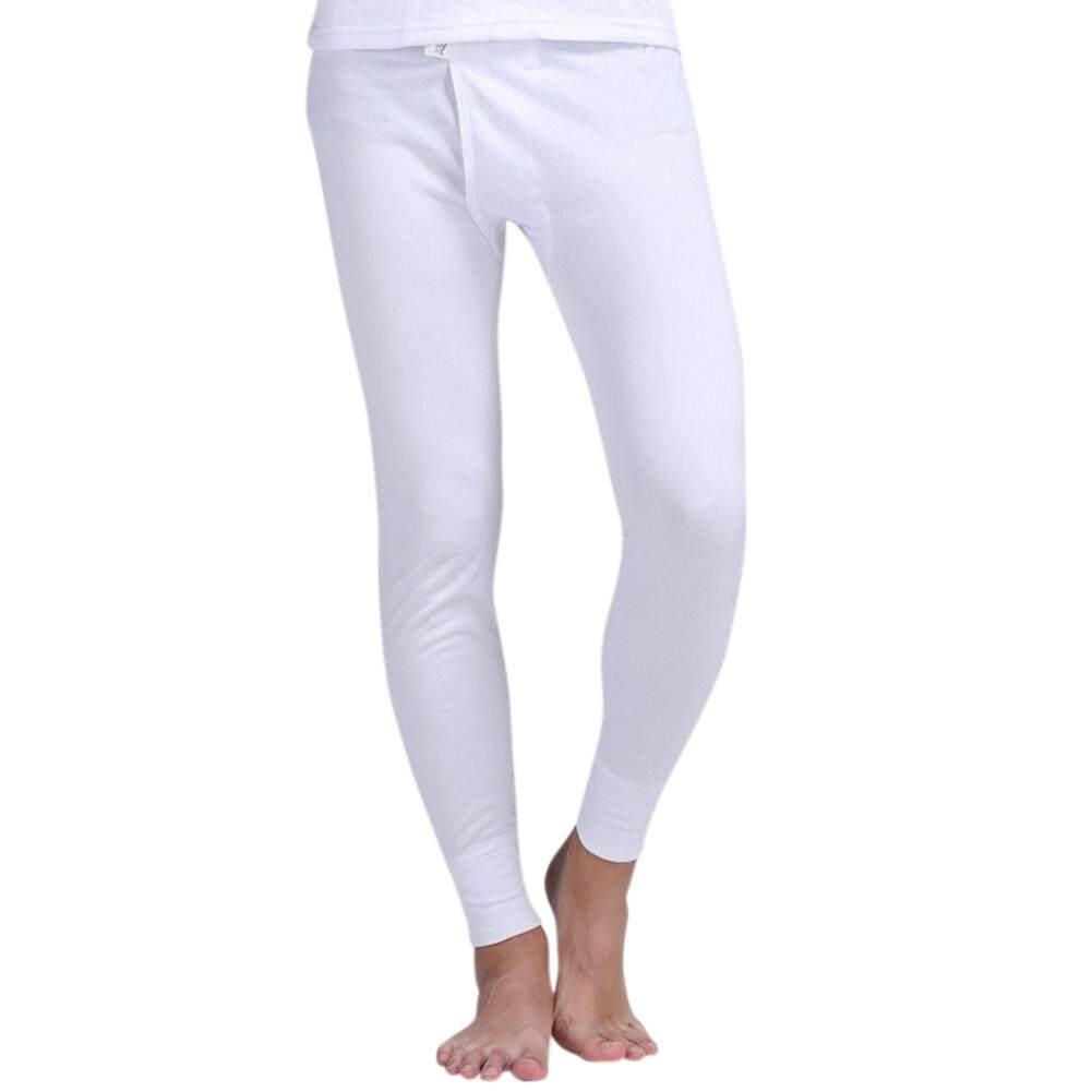 6210fb6a3e SaiDeng Men Thermal Underwear Winter Warm Thin Long Johns Pants Leggings  Bottoms