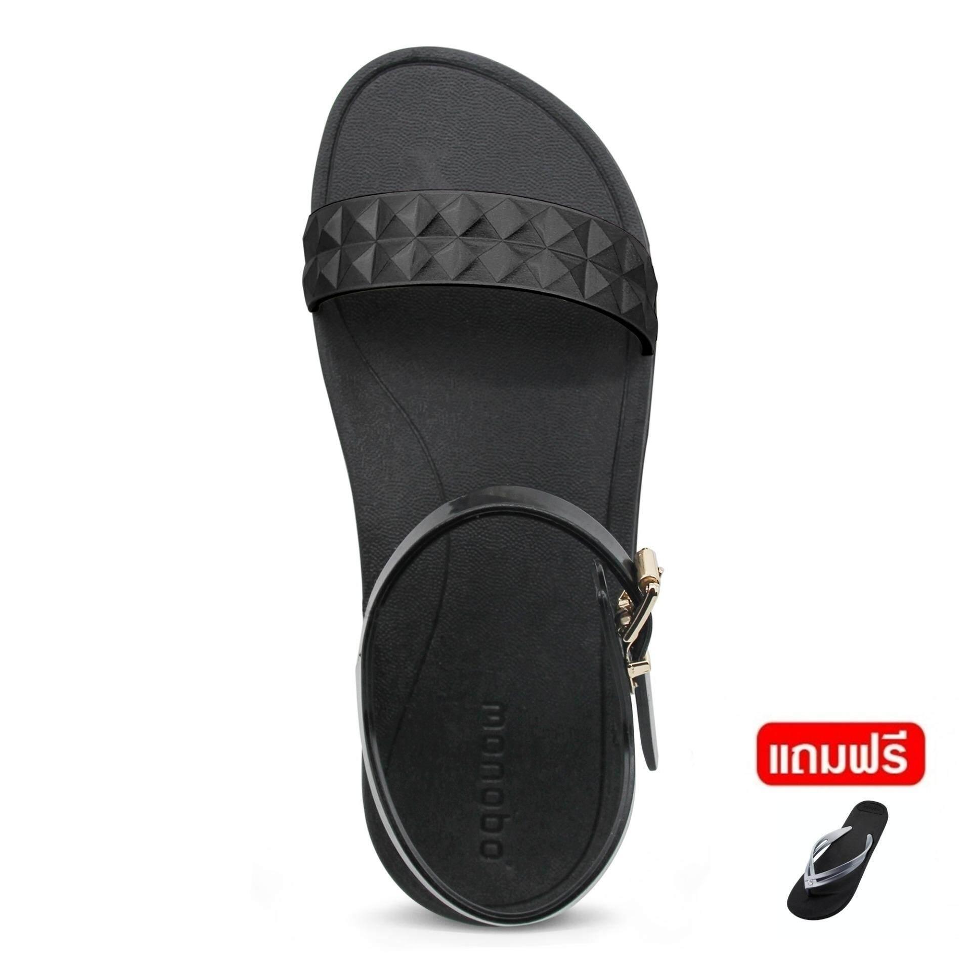addc400839d7 ลดราคา MONOBO รองเท้ารัดส้น รุ่น Norah 7 สีดำ ดำเมทาลิค ราคาถูกส่ง ...
