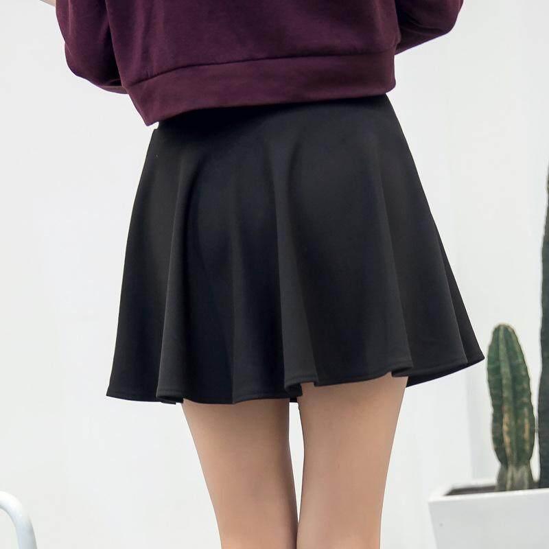 cc7496544393 Spring, Summer, Korean, Pocket, Pleated Skirts, Bottoming, Anti Wearing,
