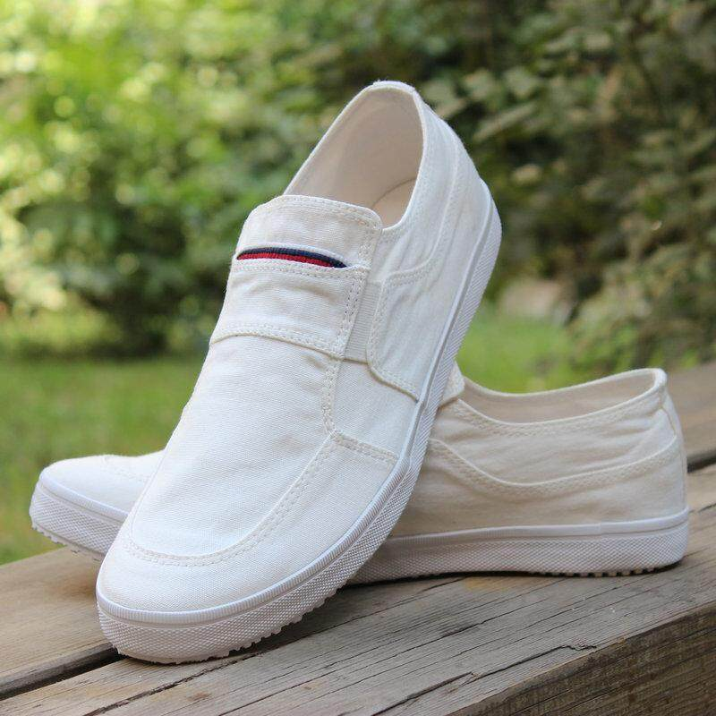Detail Gambar Sepatu kain putih sepatu kasual pria mudah dipakai Orang  Malas murid musim panas bernapas 9f7d93d960