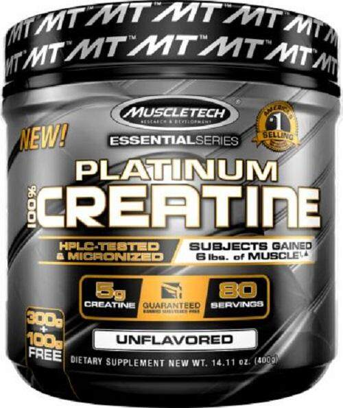 Muscletech Platinum 100% Creatine 400g.