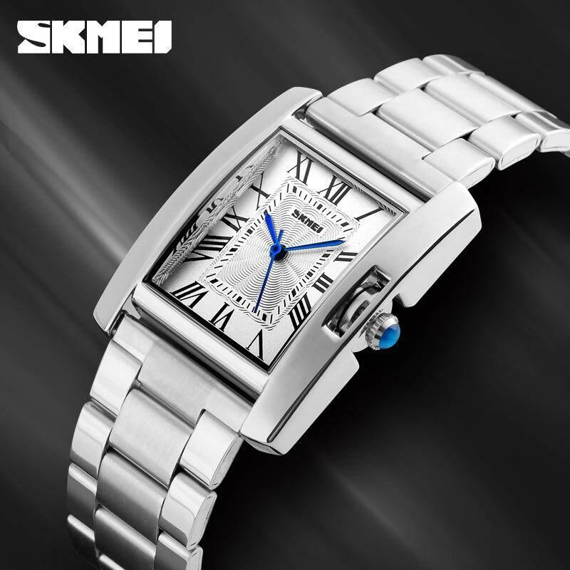 พร้อมส่ง Skmei 1284 ของแท้100% นาฬิกาข้อมือ สายแสตนเลส หน้าปัดเลขโรมัน ดีไซน์หรู.
