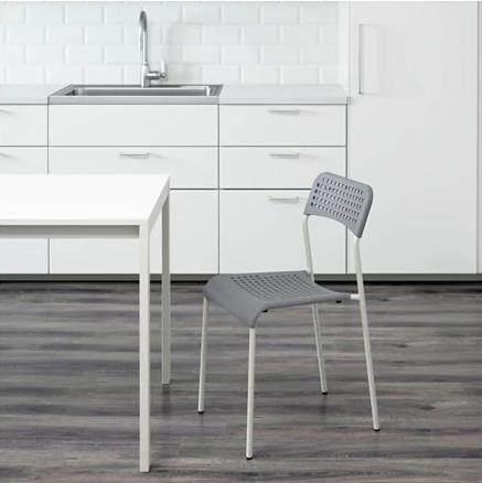 ADDE อ็อดเด เก้าอี้ เก้าอี้ทำงาน เก้าอี้พักผ่อน เก้าอี้พลาสติก เก้าอี้ราคาถูก เก้าอี้ประชุม เก้าอี้ทานข้าว สีเทา สีขาว สีแดง สีดำ รับน้ำหนักได้ 110 กิโลกรัม สูง 77 ซม. วัสดุพลาสติกโพลีโพรพิลีน