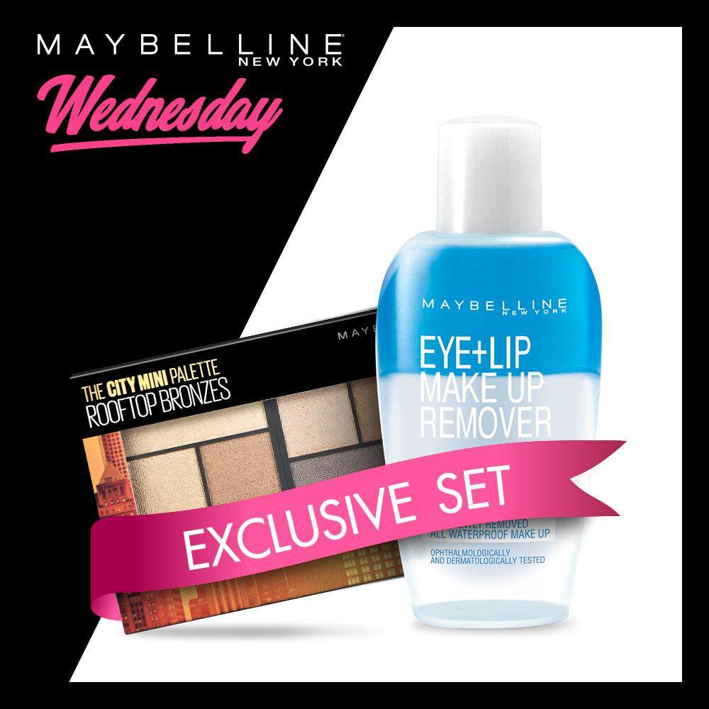 Surprise Deal Maybelline New Eye Lip Makeup Remover 70 Ml York The City Mini Palette Rooftop Bronzes 61 G Make Up