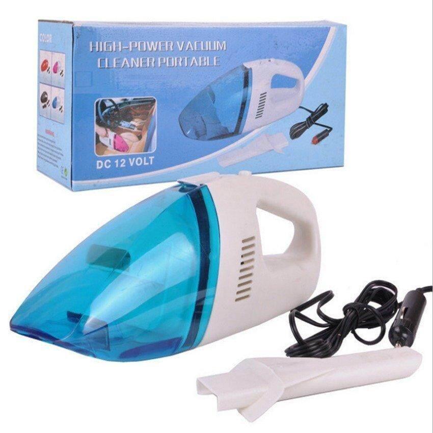 เครื่องดูดฝุ่นรถยนต์ แบบพกพา อเนกประสงค์ แบบมือถือ เครื่องดูดฝุ่นในบ้าน Car Vacuum Cleaner (white-Blue) .