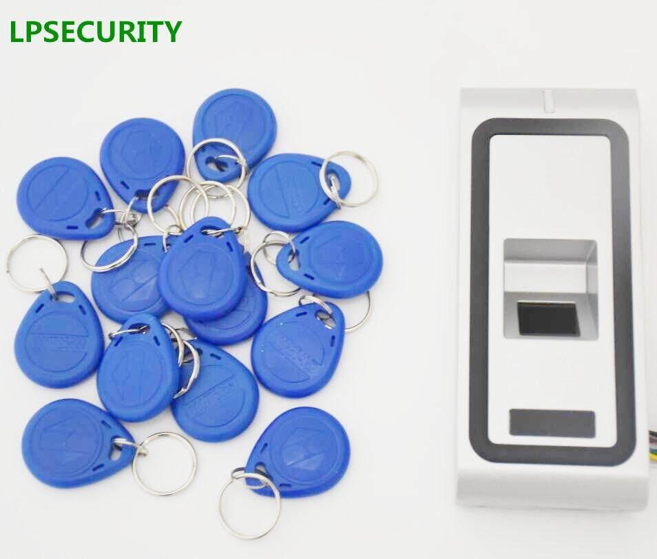 LPSECURITY Metal Case Fingerprint Key Lock Access Control Machine Biometric Electronic Door Lock RFID Reader Scanner WITH 10 TAG - intl