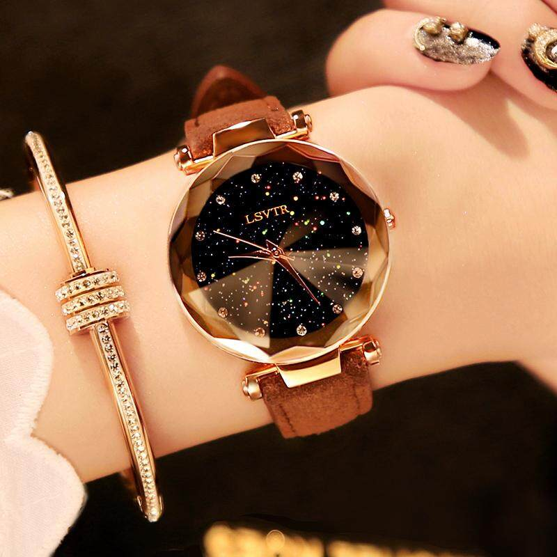 Douyin Celebrity Style Ladies Watch Waterproof Shi Shang Kuan Female 2019 New Style Students Korean Style Simple Trend Leisure Glorious Malaysia