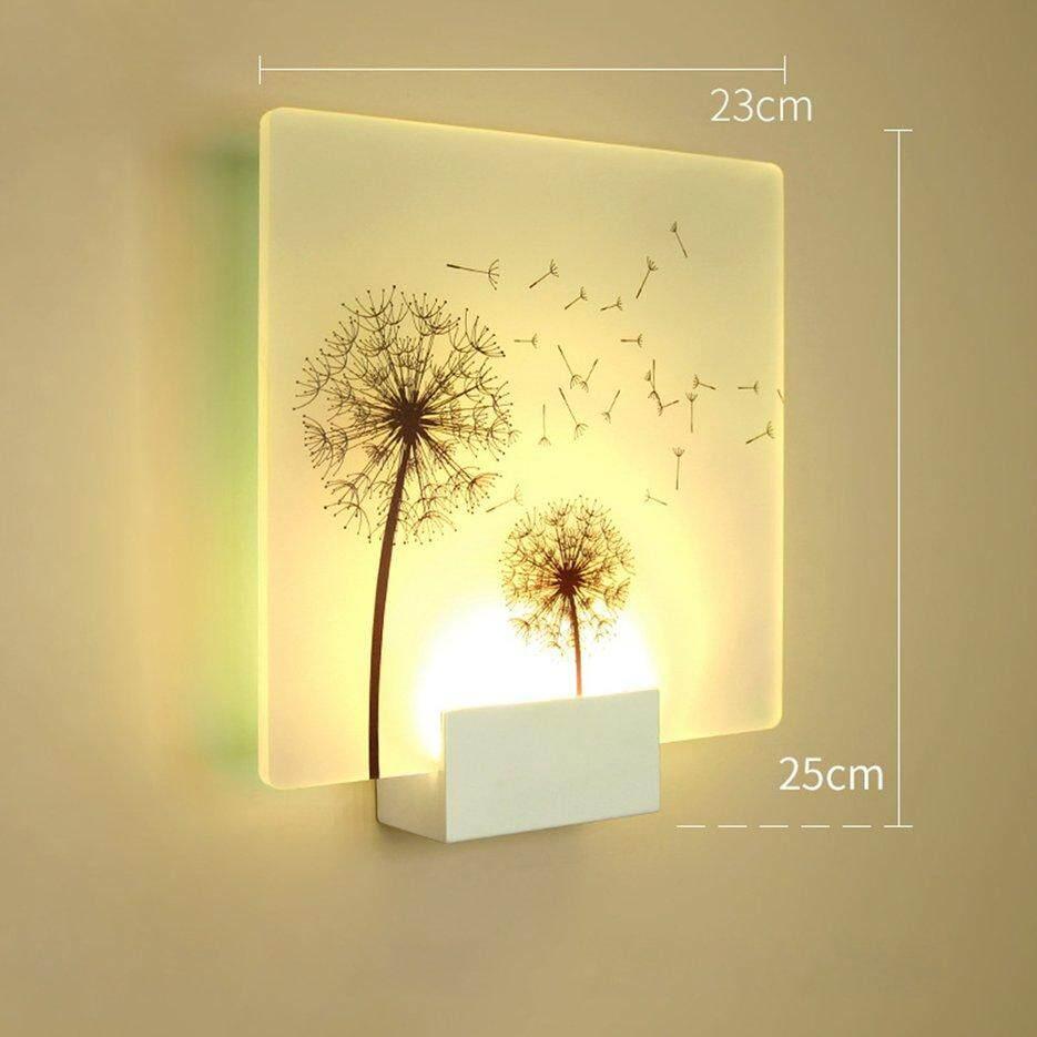 Hot Sellers Dandelion Shape LED Wall Light Bedside Fashionable Household Light