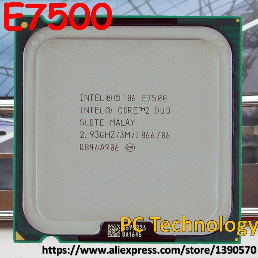 Asli Intel Core 2 Duo E7500 Cpu Desktop Cache 2.93 GHz 1066 MHz LGA775, 45nm Prosesor Kapal Dalam Waktu 1 Hari-Intl
