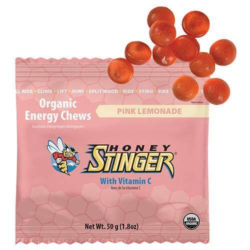 Honey Stinger Chew Organic เยลลี่ นักกีฬา รสพิงค์ (เลมอนเนด)  50 กรัม.