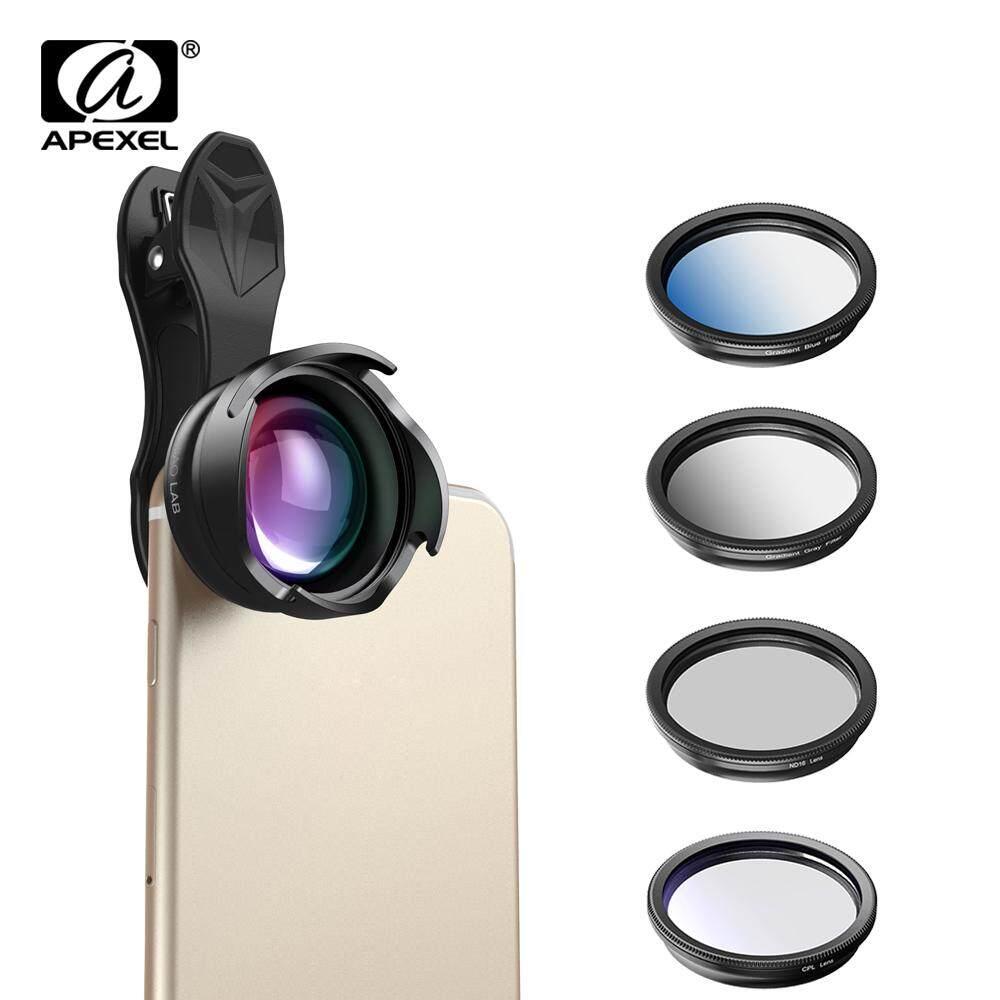 APEXEL Ponsel Lensa Kamera 2.5X Tele Potret Bokeh Lensa dengan CPL Secara Bertahap Filter ND Filter untuk Ponsel Pintar Android IOS 70 Mm