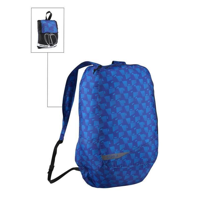 เป้สะพายหลังพับเก็บได้ขนาดเล็กสำหรับการเดินในชีวิตประจำวันรุ่น Pocket Bag (สี Blue Arrow).