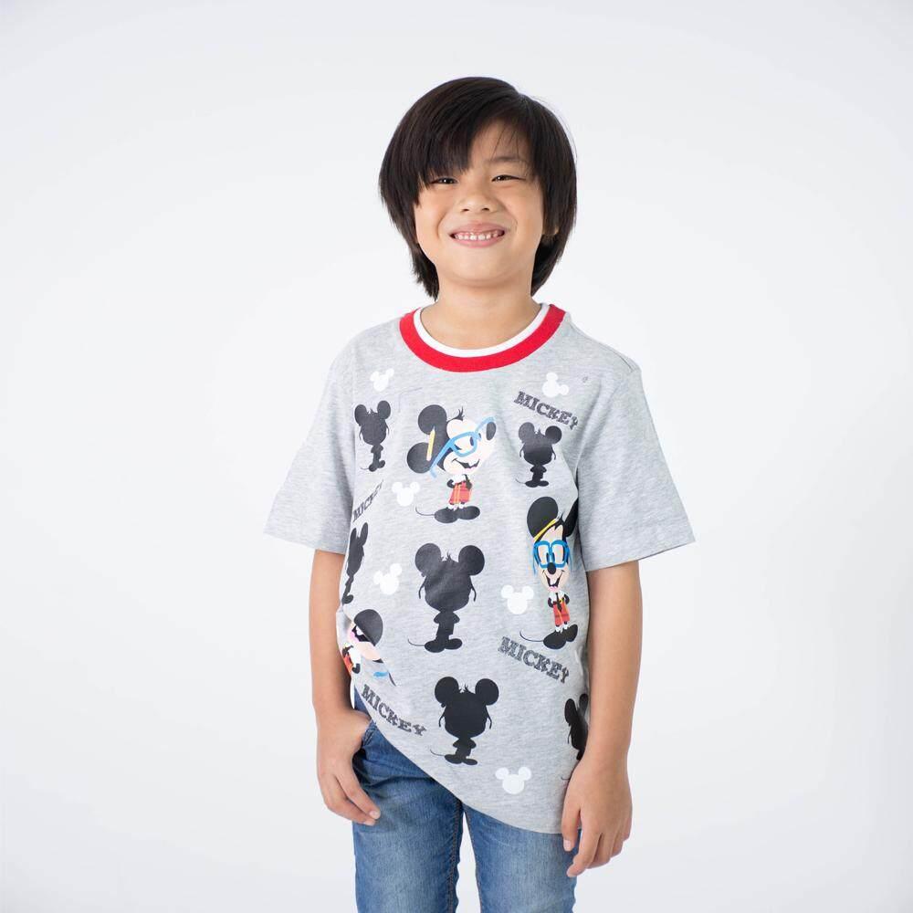 เสื้อยืดเด็กผู้ชาย มิกกี้เมาส์ Kid - T shirt Mickey Mouse