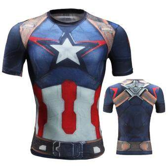 Beli sekarang Pahlawan super Fitness Baju ketat SID Ironman Amerika Serikat Pemimpin tim Elastisitas Tinggi cepat