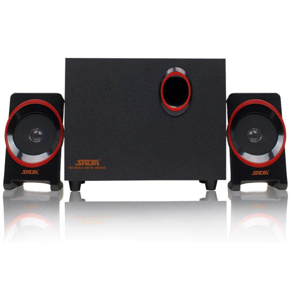 Wooden Desktop Small Computer Pc Speakers Usb 2.1 Music Speaker For Notebook