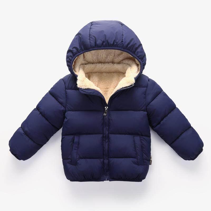 Pakaian Katun Bulu Angsa Off Season Jaket Katun Lebih Tebal Anak Prempuan