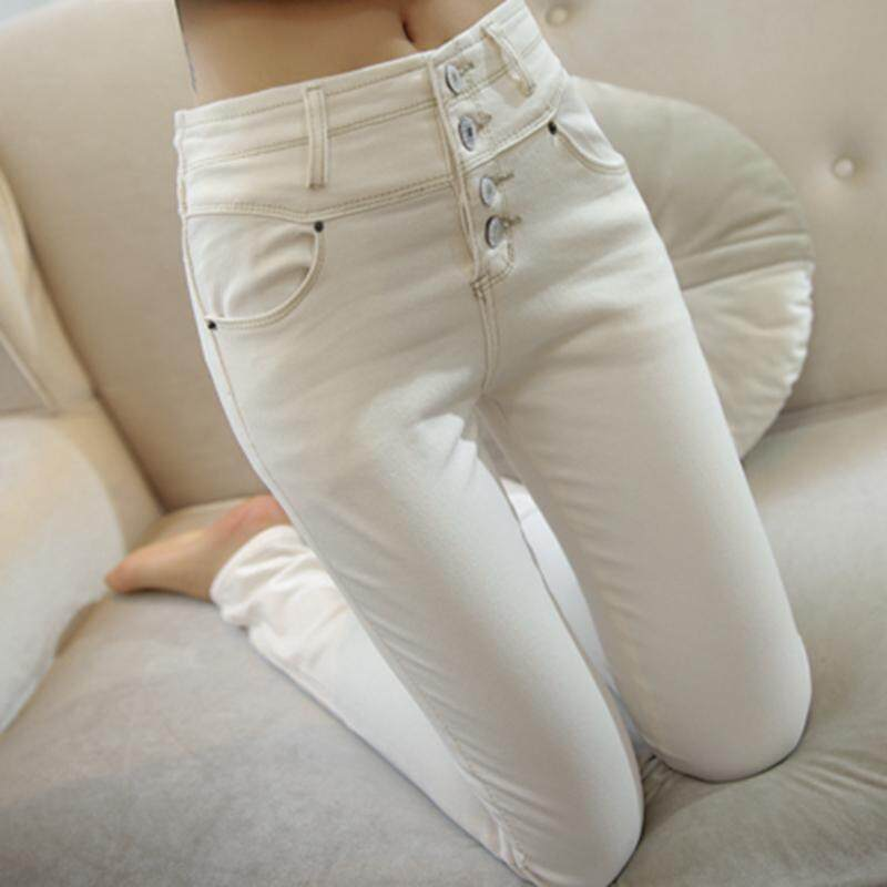 068548918d Spring And Summer High-waist Ankle-length Jeans Korean Style Online  Celebrity White Slim