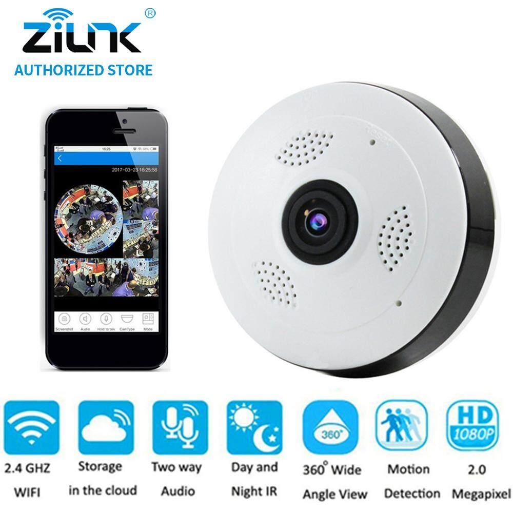 Buy Sell Cheapest Zilnk 1080 P Best Quality Product Deals Kamera Ip Bholam Lampu 360 Derajat Panoramic 2mp Ipcam Wifi Penuh Fisheye Definisi Tinggi Panorama P2p Dua Arah