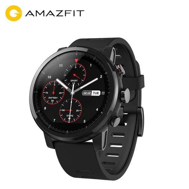 Original Xiaomi Huami Amazfit Stratos Pace 2 สมาร์ทสปอร์ตนาฬิกา 2 Version 1 34 นิ้ว 2 5D หน้าจอ 5Atm Water Resistant Gps Firstbeat โหมดว่ายน้ำ Wos 2 พร้อมสายรัดซิลิโคน Global Version ถูก